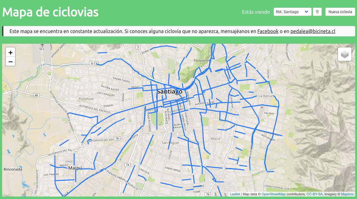 Mapa De Ciclovias Bicineta